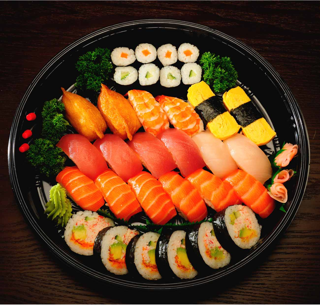 3. Assorted Nigiri Sushi and Nori Maki Platter (32 pcs)