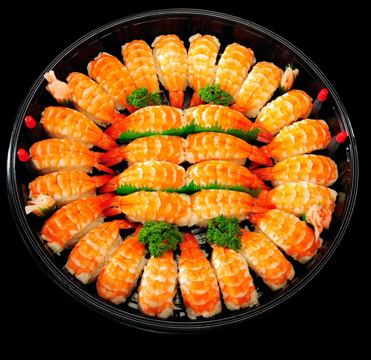 5. Ebi Nigiri Sushi Platter (30 pcs)